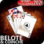 Free French Belote & Coinche – 30 days Challenge 1.19  (Mod)