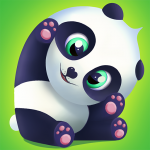 Pu Cute giant panda bear, virtual pet care game  3.1 (Mod)