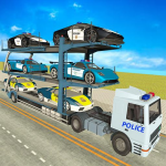 City Police Car Transporter Truck: Trailer Driving 2.0 (Mod)