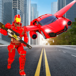 Flying Robot Car Transformer : Robot Superhero War 1.0 (Mod)