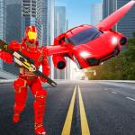 Flying Robot Car Transformer : Robot Superhero War 1.0 (Mod)