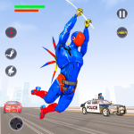 Flying Robot Rope Hero – Vegas Crime City Gangster 2.4 (Mod)