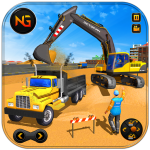 Heavy Excavator Crane Game Construction Sim 2019  1.0.7 (Mod)