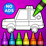 🚗 Learn Coloring & Drawing Car Games for Kids 🎨  7.0 (Mod)