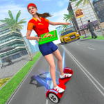 Pizza Delivery Girl Hover Board Rider 1.0.3 (Mod)