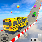 School Bus Stunt Driving: Mega Ramp Impossible Bus 1.1 (Mod)