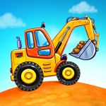 Truck games for kids – build a house, car wash  5.11.2 (Mod)