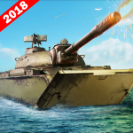 Army Tank Battle War On Water : Armoured Vehicle 2.2 (Mod)