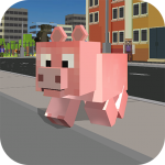 Blocky City Pig Simulator 3D 1.10 (Mod)