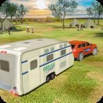 Camper Van Truck Simulator: Cruiser Car Trailer 3D 1.12  (Mod)