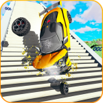 Car Crash Beam  Drive Sim: Death Stairs Jump Down 1.3 (Mod)