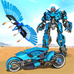 Flying Police Eagle Bike Robot Hero: Robot Games 29 (Mod)