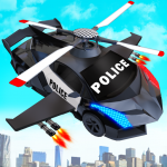 Flying Police Helicopter Car Transform Robot Games 27 (Mod)