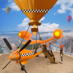 Flying Taxi Simulator: Air Balloon Taxi Driving 3D 1.0.4 (Mod)