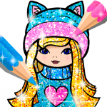 Girls Coloring Book for Kids Glitter 1.1.6.1 (Mod)