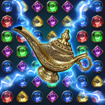 Jewels Magic Lamp Match 3 Puzzle  1.1.5 (Mod)