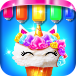 Mermaid Glitter Cupcake Chef – Ice Cream Cone Game  1.4 (Mod)