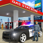 Police Car Wash Service: Gas Station Parking Games  1.4 (Mod)