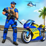 US Police Bike Gangster Chase Crime Shooting Games 1.0.7 (Mod)