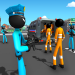 US Police Stickman Criminal Plane Transporter Game  4.7 (Mod)