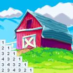 Adults Coloring Books: Color landscape picture 1.50 (Mod)