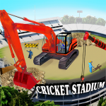 Cricket Stadium Builder Construction Crane Game 3D 1.3 (Mod)