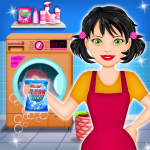Home Laundry & Dish Washing: Messy Room Cleaning 1.0.5 (Mod)