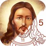 Bible Coloring Paint by Number, Free Bible Games  2.12.0 (Mod)