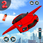 Flying Car Shooting Game: Modern Car Games 2020 1.1 (Mod)
