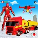 Flying Oil Tanker Robot Truck Transform Robot Game 13 (Mod)