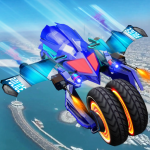 Flying Robot Police ATV Quad Bike City Wars Battle 4.0.1 (Mod)
