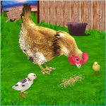 New Hen Family Simulator: Chicken Farming Games  1.11 (Mod)