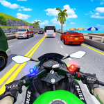 Police Moto Bike Highway Rider Traffic Racing Game 69 (Mod)