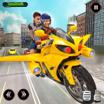 Real Flying Bike Taxi Simulator: Bike Driving Game 3.5 (Mod)