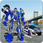 US Police Car Real Robot Transform: Robot Car Game  171 (Mod)