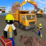 Stickman City Construction Excavator  1.6 (Mod)