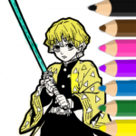 Coloring book for Demon Slayer 1.06 (Mod)