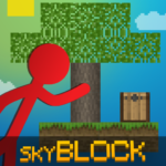 Stickman vs Multicraft: Skyblock Craft  1.2.3 (Mod)