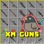 XM Guns Addon MCPE  1.8 (Mod)