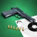 Pistol shooting at the target.  Weapon simulator 4.8 (Mod)