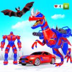Flying Dino Transform Robot: Dinosaur Robot Games  17 (Mod)