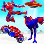 Flying Ostrich Robot Transform Bike Robot Games  40 (Mod)