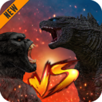 Godzilla & Kong 2021: Angry Monster Fighting Games  4 (Mod)