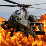 Gunship Force: Free Helicopter Games Attack 3D  (Mod)