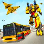 Bus Robot Car Transform: Flying Air Jet Robot Game  (Mod)