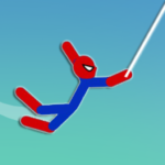 Super Hero Hook: Stickman Rope Swing  (Mod)