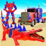 Crocodile Robot Car Transforming Mega Robot Games  35 (Mod)