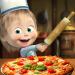 Masha and the Bear Pizzeria Game! Pizza Maker Game  (Mod)