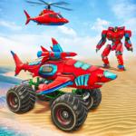 Monster Truck Robot Shark Attack – Car Robot Game  (Mod)