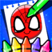 Superhero Coloring Book Game & Comics Drawing book  (Mod)